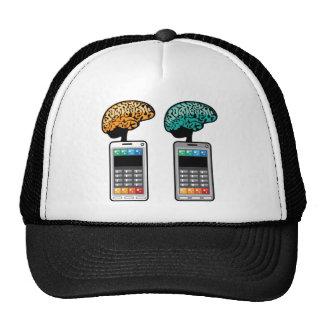 El vector más elegante del teléfono con un cerebro gorras de camionero