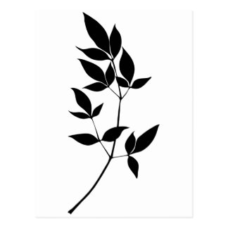 El vector negro y blanco deja la silueta de la tarjetas postales