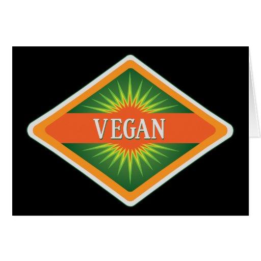 El vegano colorea el logotipo felicitación