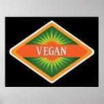 El vegano colorea el logotipo impresiones