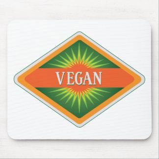 El vegano colorea el logotipo alfombrillas de ratones