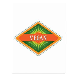 El vegano colorea el logotipo postal