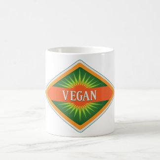 El vegano colorea el logotipo tazas