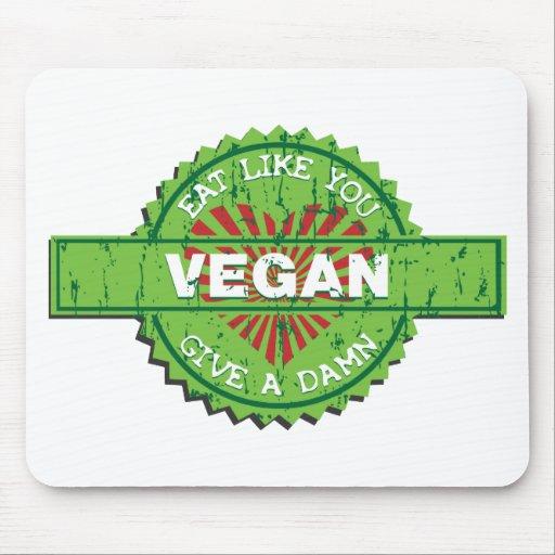 El vegano da una maldición alfombrilla de ratones