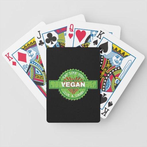 El vegano da una maldición barajas de cartas