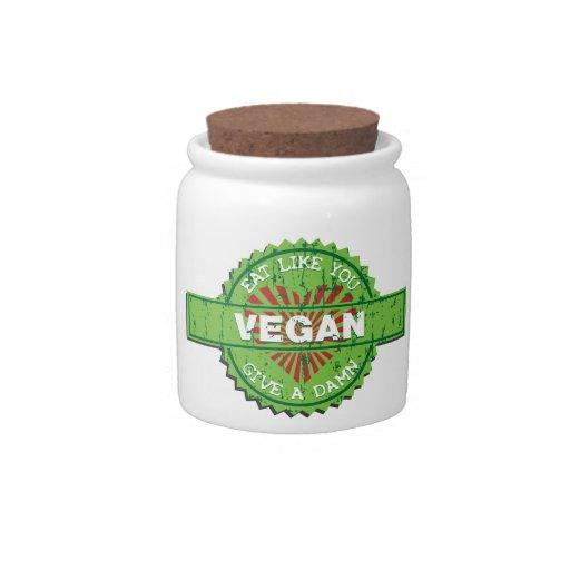El vegano da una maldición jarras para caramelos