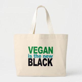 El vegano es el nuevo negro bolsa tela grande