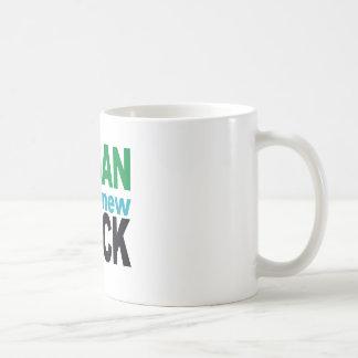 El vegano es el nuevo negro taza de café