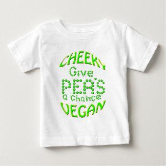 el vegano fresco da a guisantes una oportunidad playera de bebé
