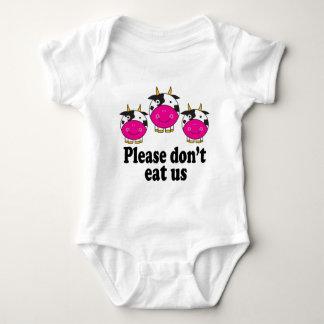 El vegano lindo acobarda la camiseta del bebé remeras
