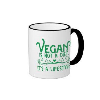 El vegano no es una dieta tazas