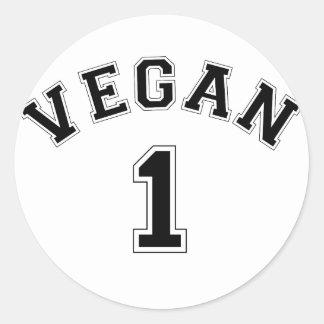 El vegano se divierte el logotipo pegatina redonda