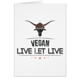 El vegano vivo dejó vivo felicitacion