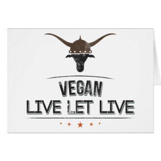 El vegano vivo dejó vivo tarjeton