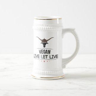 El vegano vivo dejó vivo tazas de café