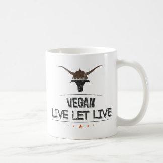 El vegano vivo dejó vivo tazas