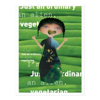 ¡El vegetariano no es ningún extranjero! Postal