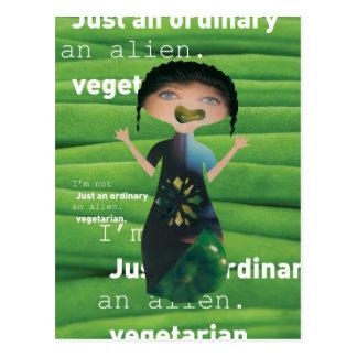 ¡El vegetariano no es ningún extranjero! Tarjeta Postal