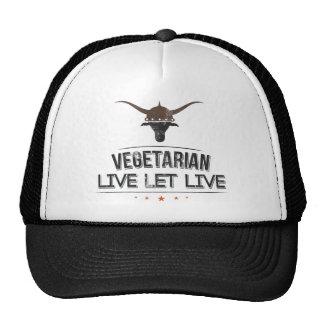 El vegetariano vivo dejó vivo gorra