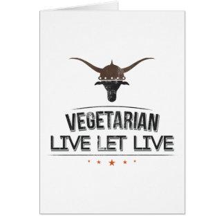 El vegetariano vivo dejó vivo tarjetón