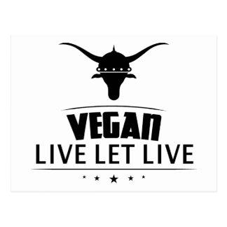 El vegetariano vivo dejó vivo tarjeta postal