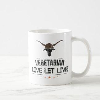 El vegetariano vivo dejó vivo taza
