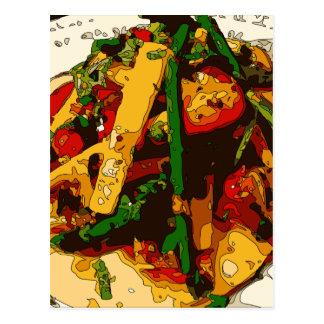 El Veggie sabroso del guisante verde y del tomate Postal