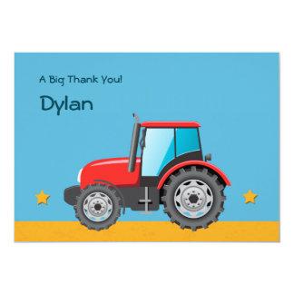 El vehículo de la granja del tractor le agradece invitacion personalizada