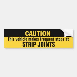 El vehículo marca paradas frecuentes en las juntas pegatina para auto