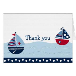 El velero ausente de la vela náutico le agradece l tarjeton