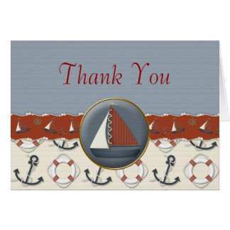 El velero azul blanco rojo náutico le agradece las felicitacion
