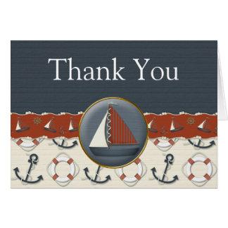 El velero azul blanco rojo náutico le agradece las felicitación