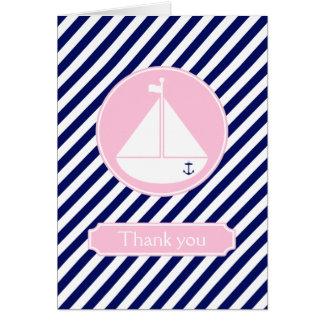 El velero azul y rosado le agradece felicitaciones