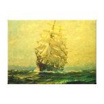 El velero cruza el Atlántico Lona Envuelta Para Galerias
