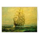 El velero cruza el Atlántico Tarjetas