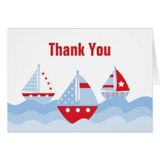 El velero le agradece cardar tarjetas