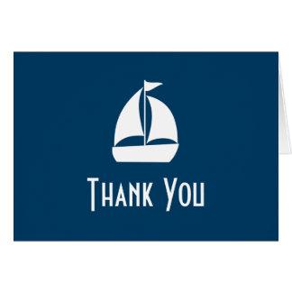El velero le agradece las tarjetas de nota (los az
