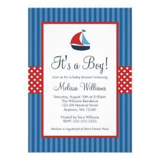 El velero náutico raya invitaciones de la fiesta d