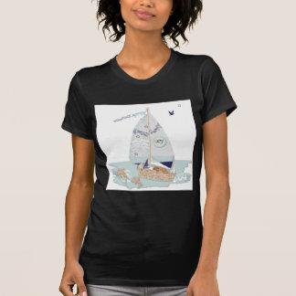 El velero y puppy.jpg de RJ Camiseta