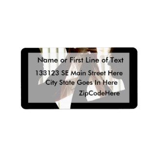El velo ajusta diseño de la fotografía del esquema etiquetas de dirección
