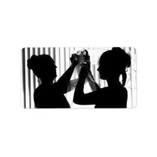El velo ajusta la imagen del boda de la fotografía etiquetas de dirección