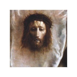 EL VELO DEL VERONICA, LA CARA SANTA DE JESÚS IMPRESIÓN EN LONA