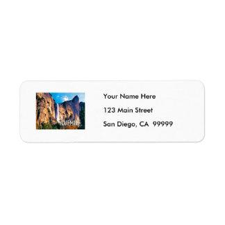 El velo nupcial baja parque nacional de Yosemite Etiquetas De Remite