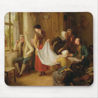 El vendedor ambulante, 1814 (aceite en el panel) mousepad