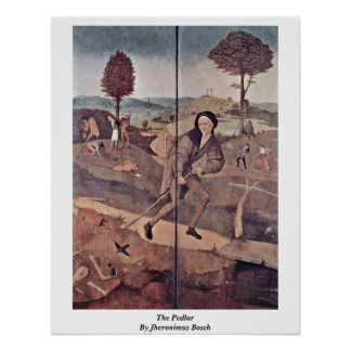 El vendedor ambulante de Jheronimus Bosch Posters