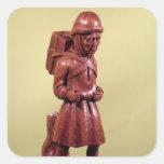 El vendedor ambulante de Swaffham, c.1462 Calcomanía Cuadradas