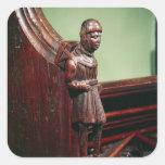 El vendedor ambulante de Swaffham, c.1462 Pegatina Cuadrada