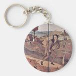 El vendedor ambulante. Por Hieronymus Bosch (la Llavero Redondo Tipo Pin