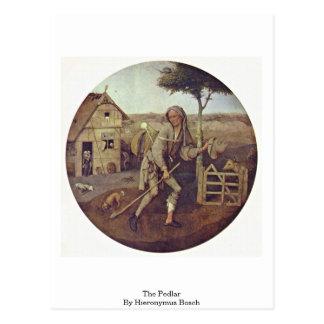 El vendedor ambulante. Por Hieronymus Bosch Postales