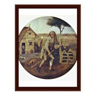 El vendedor ambulante., por Hieronymus Bosch Tarjeta Postal
